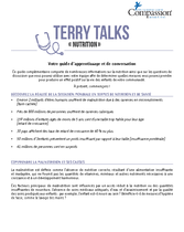 Terry Talks: Nutrition (Guide de Discussion)